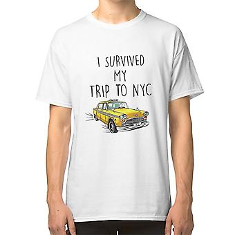 I Survived My Trip To Nyc Spiderman Tom Holland Taxi Taxi Driver T shirt