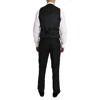 Black Wool Dress Waistcoat Gillet Vest