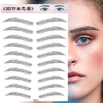 Water Transfer Eyebrow Sticker Long Lasting Waterproof Makeup 4d Hair-like