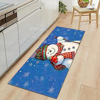 Christmas Print Kitchen, Entrance Door Mat - Non-slip Carpet, Bedroom Mattress