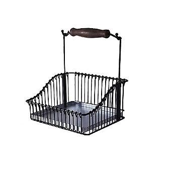 متعدد الأغراض سلة تخزين الحديد ل تحت خزانات وجبهات المطبخ