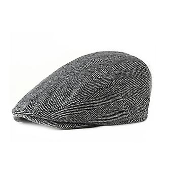 Herringbone Men's Newsboy Gatsby Hat Vintage Beret Flat Ivy Cabbie Driving Hunting Cap For Boyfriend Gift