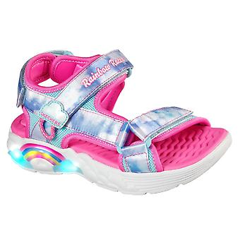 Skechers Meisjes Rainbow Racer Summer Sky Beach Sandalen