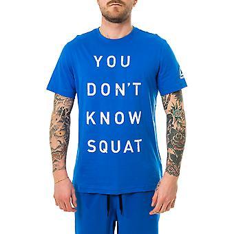 Miesten t-paita reebok ei tiedä kyykky bq8301