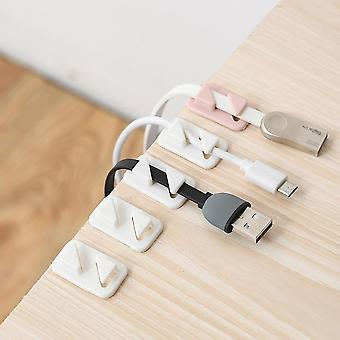 12pcs Universal Wire Tie Self-adhesive Rectangle Cord Cable Holder Organizer