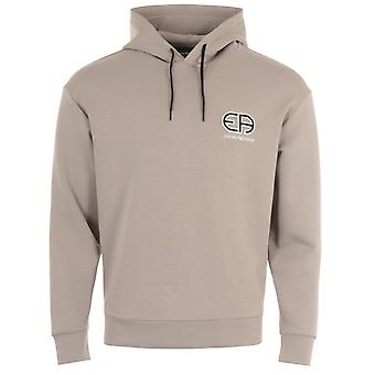 Emporio Armani R-EAcreate Logo Hooded Sweatshirt - Beige