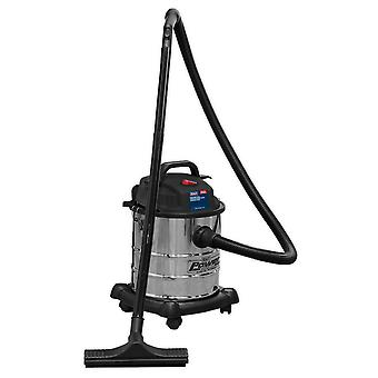 Sealey Pc195Sd Vacuum Cleaner Wet & Dry 20Ltr 1250W Stainless Drum