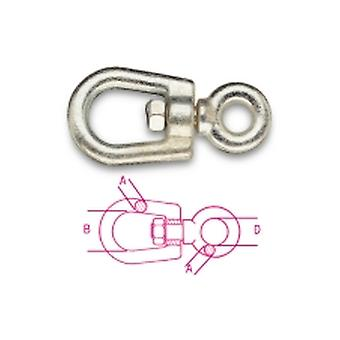 Beta 081140022 M22x307 Eye And Eye Swivels Italian Marche Type Carbon Steel
