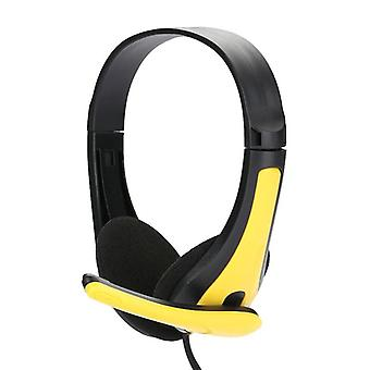 Wired Gaming Headphones Over-ear Stereo Bass Headset With Microphone