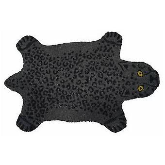 foot mat Panther 40 x 70 cm coconut fibre/PVC black