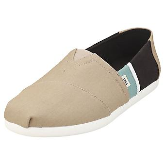 Toms Alpargata Color Block Mens Slip On Shoes in Taupe