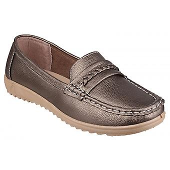 Amblers Thames Dames Loafers Pewter