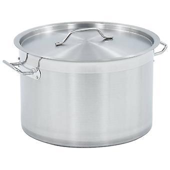vidaXL soup pot 23 L 35×22 cm stainless steel