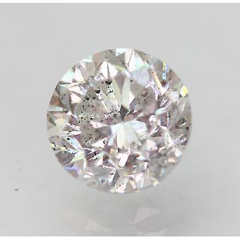 Sertifioitu 1.10 Karat G SI1 pyöreä brilliant parannettu luonnollinen löysä timantti 6,2mm