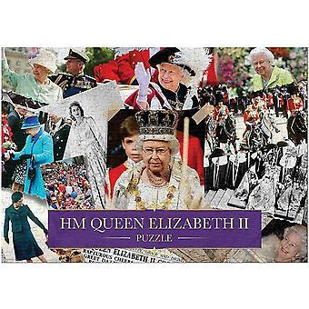 HM Drottning Elizabeth II Montage pussel 1000 bitar