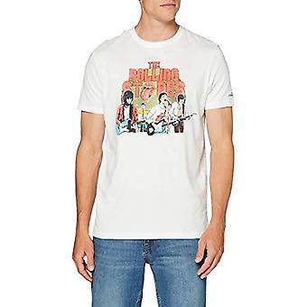 Springfield 3lc Licencia Rolling-c/96 T-Shirt, White (Ivory 96), Medium Men