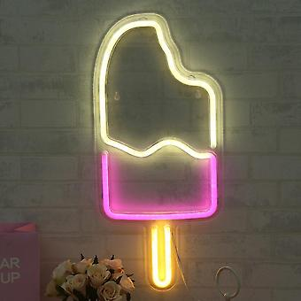 Led bunte Popsicle Gitarre Neon Zeichen Hustle Bar Nachtlampe