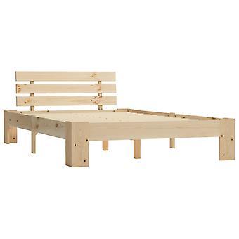 vidaXL bedframe massief hout grenen 120 × 200 cm