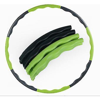 Crianças verdes+negras ostentam hoola hoop,8 nós ajustáveis fitness hoola az5525