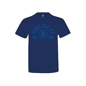 Chelsea Established T Shirt Youths Navy 12-13 Years