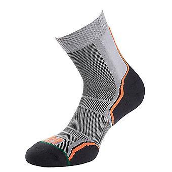 1000 Mile Trail Socks - Twin Pack Silver/Black - Medium