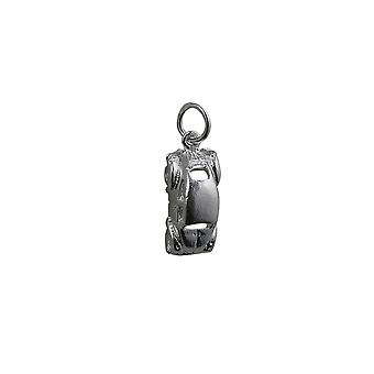 Silver 16x8mm VW Beetle Car Pendant or Charm