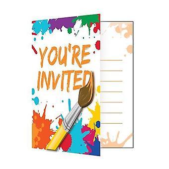 Invitación Fld W/Att 6/8Ct Art Party