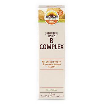 Sundown Naturals Sundown Naturals Vitamin B-Complex Sublingual Liquid, 24 X 2 Oz