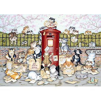 Ravensburger Crazy Cats Lost in the Post Jigsaw Puzzle (1000 Pieces)