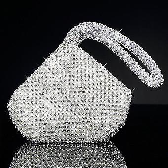 Nuova borsa clutch serale da donna con strass completa Festa ballo di nozze