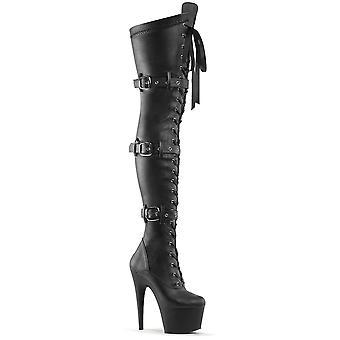 Pleaser Stivali Donna ADORE-3028 Blk Str Faux Leather/Blk Matte