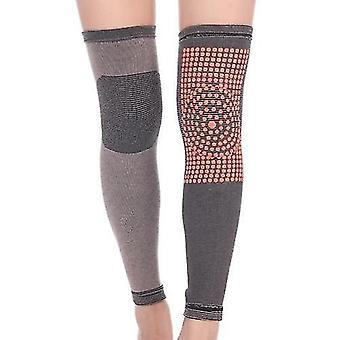 運動機械装置は冬の暖かい膝のブレースパッド自己加熱膝の袖サーマルレッグ暖かいスポーツ膝のプロテクターを設定します