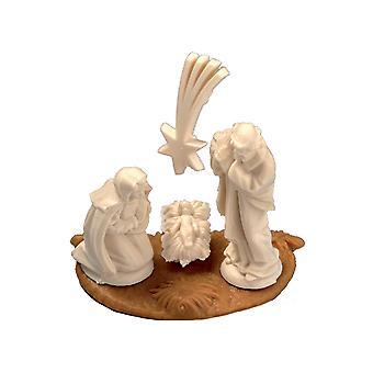 SIDSTE PAR - Micro Christmas Christian Fødselskirken Scene med stand til at dekorere