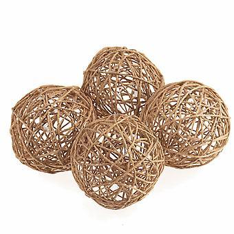 4 6cm naturlig jute dekorative baller for blomsterdekoratør håndverk