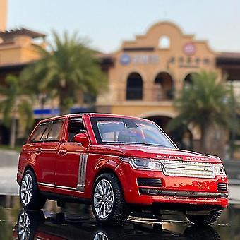 1:28 SUV סגסוגת מכונית דגם למות יציקות סימולציה צעצוע רכב צליל וצעצועים אור לילדים מתנה (אדום)