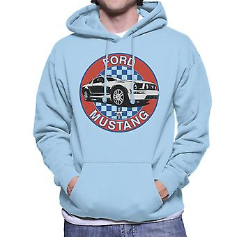 Ford Mustang Sininen Checkered Race Stripes Miesten huppari