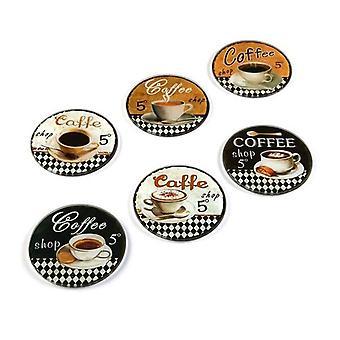 Onderzetter Koffieglas (6 Delen)