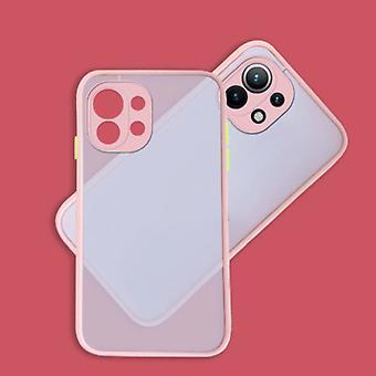 Balsam Xiaomi Redmi Note 9 Case with Frame Bumper - Case Cover Silicone TPU Anti-Shock Pink