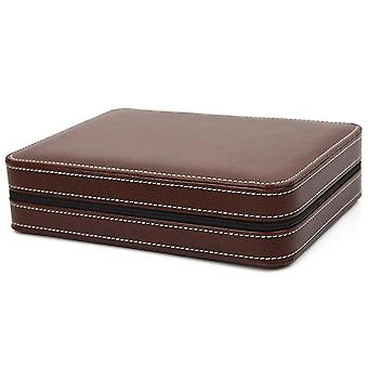 8 Grids Watch Display Storage Box Case Zippered Travel Watch Box 06 COLOR