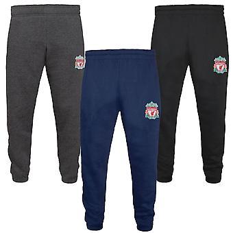 Liverpool FC Boys Joggers Jog Pants Slim Fit Fleece Kids OFFICIAL Football Gift