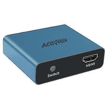 HDMI Разветвитель 1 вход 2 выхода 4K 1 до 2 усилитель для Full HD 1080p (синий)