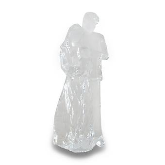 Mom Dad And Child Family Clear Acrylic Statue
