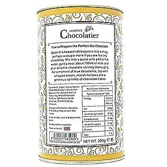 Martin's Chocolatier | 2 Pack | White Hot Chocolate Flakes Drinking Chocolate Made from Real Belgian Chocolate Flakes