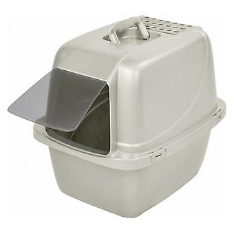 Van Ness Enclosed Cat Litter Pan with Zeolite Air Filter - Large White