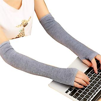 Frauen Winter Armwärmer Handschuhe Kaschmir Fingerlos Lange Handschuhe Solide Warmes Geschenk