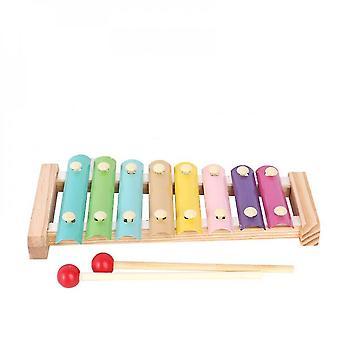 8-Note Bunte Aluminiumplatte Percussion Frühe Bildung Musikalisches Spielzeug für Kleinkinder Baby (STYLE TWO)