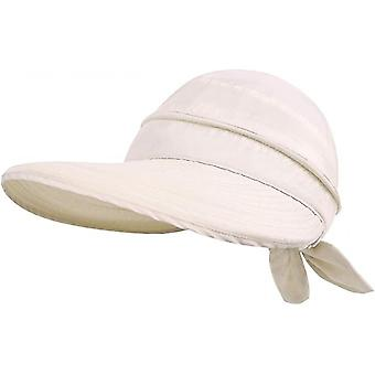 Einfachheit Hüte Upf 50 + Uv Sonnenschutz Cabrio Strandvisier Hut (Aprikose)