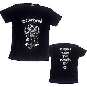 Motorhead unisex tee: england (baksidatryck)