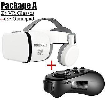 Bobo vr z6 bluetooth gafas 3d caja de realidad virtual google cardboard micrófono estéreo casco para