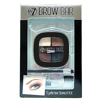 W7 Brow Bar Augenbraue Stencil Kit